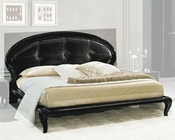 Modern Bed in Black Made in Italy 33B112