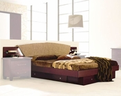Modern Bed in Dark Cherry Made in Italy 33B82