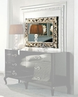 Modern Bedroom Mirror in Antique Gold Finish Made in Italy 33B116