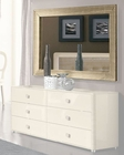 Modern Bedroom Mirror in Beige Finish Made in Italy 33B106