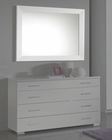 Modern Bedroom Mirror in White Made in Italy 33B76