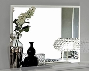 Modern Bedroom Mirror Onda in White Color 33180ON