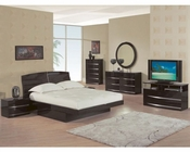 Modern Bedroom Set Agata in Wenge Finish 35B61
