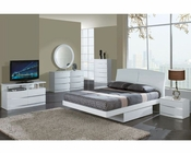 Modern Bedroom Set Agata in White 35B51