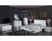 Modern Bedroom Set Anetta in White 35B81