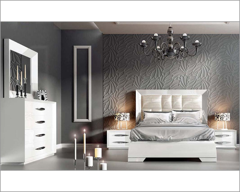 white modern bedroom set 33131ca