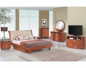 Modern Bedroom Set Elena in Cherry Finish 35B111