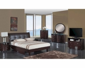 Modern Bedroom Set Elena in Wenge Finish 35B121