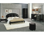 Modern Bedroom Set in Black Made in Italy 33B111