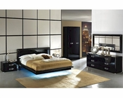 Modern Bedroom Set in Black Made in Italy 33B91