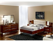 Modern Bedroom Set in Dark Cherry Finish Made in Italy 33B31