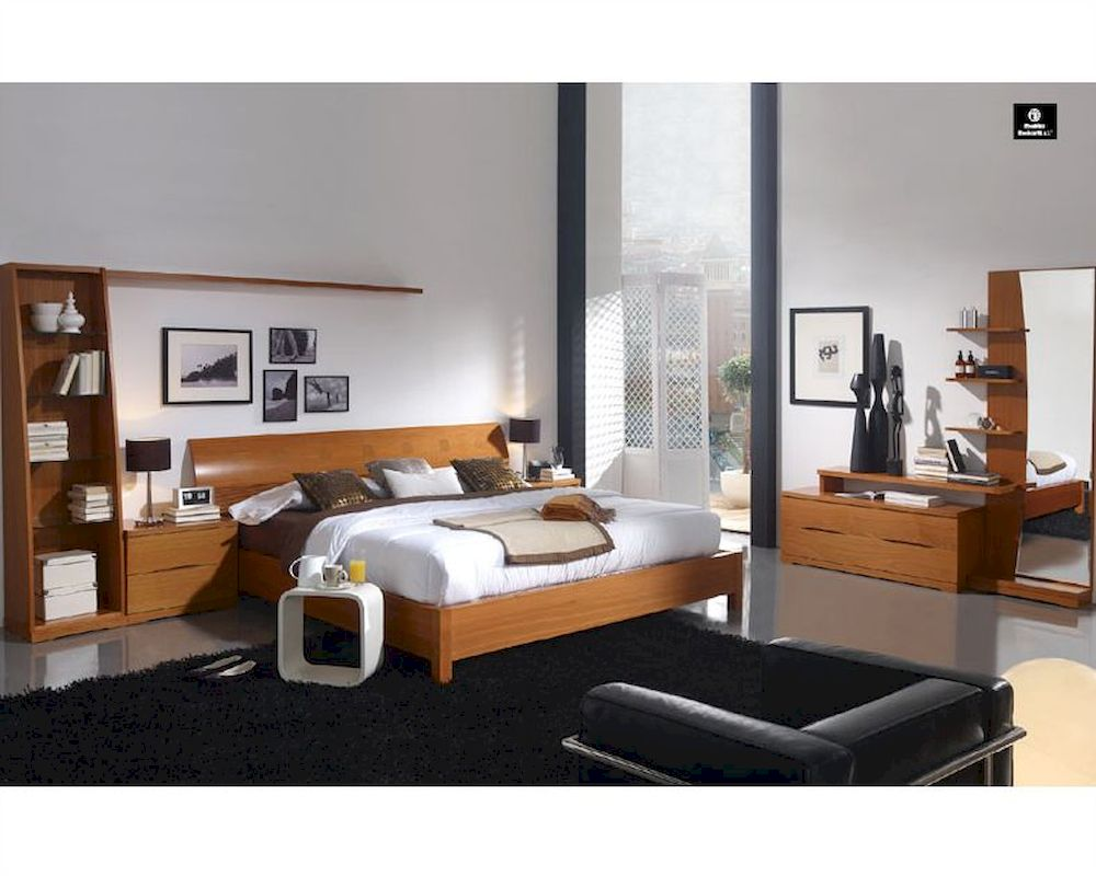Elegant wood modern master bedroom set feat wood grain cincinnati ohio - Bedroom