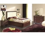 Modern Bedroom Set in Wenge Finish Made in Spain 33B11
