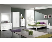 Modern Bedroom Set in White Made in Italy 33B71