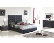 Modern Bedroom Set Sevilla in Black Made in Spain 33B261