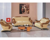 Modern Dual Color Leather Sofa Set 44L7055
