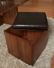 Modern Bicast Square Storage Stool Opus by Somerton SO-623-01
