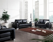 Modern Black or White Bonded Leather Sofa Set 44L2926