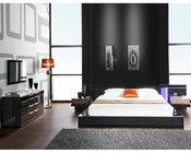 Modern Black Finish Bedroom Set Made in Italy 44B111B