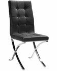 Modern Black Leatherette Dining Chair 44DXG12 (Set of 2)