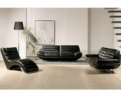 Modern Design Black Leather Sofa Set 44LBO3979BLK