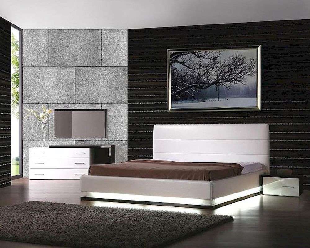 Modern Design Bedrooms Design Platform Bedroom Set Made In Italy 44b3611