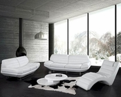 Modern Design White Leather Sofa Set 44LBO3979W