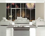 Modern Design White Leather Sofa Set 44LT93HL