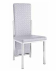 Modern Dining Chair Silver Chrome European Design 33D204 (Set of 4)