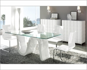 Modern Dining Room Set Made in Spain Wave 3323WV