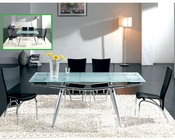 Modern Dining Set Glass Top Table European Design 33D271