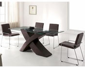 Modern Dining Set in Wenge Finish European Design 33D151