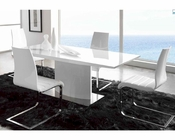 Dining Set in White Finish 33D411