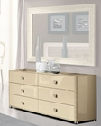 Modern Double Dresser in Beige Finish Made in Italy 33B105