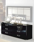 Modern Double Dresser in Black Made in Italy 33B95