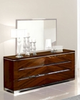 Modern Double Dresser in Dark Cherry Finish Made in Italy 33B35
