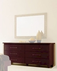 Modern Double Dresser in Dark Cherry Made in Italy 33B85