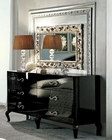Modern Dresser and Mirror in Black Made in Italy 33B114