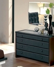 Modern Dresser and Mirror in Black Made in Spain 33B54