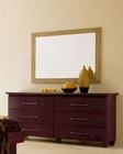 Modern Dresser and Mirror in Dark Cherry Made in Italy 33B84