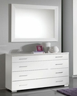 Modern Dresser and Mirror in White Made in Italy 33B74