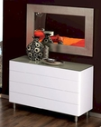 Modern Dresser and Mirror in White Made in Spain 33B64