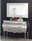 Modern Dresser and Mirror Lolita in Silver Finish Made in Spain 33B284
