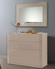Modern Dresser and Mirror Made in Spain Trenzado 33190TE
