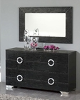 Modern Dresser and Mirror Valencia in Black Made in Spain 33B254