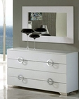 Modern Dresser and Mirror Valencia in White Made in Spain 33B244