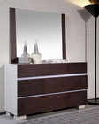 Modern Dresser w/ Mirror in Espresso and White 44B168DM