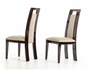 Modern Ebony and Taupe Dining Chair 44D13009 (Set of 2)