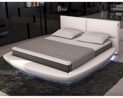 Modern Eco-Leather Bed w/ LED Lights 44B162BD