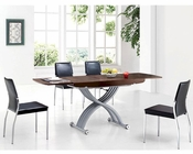 Modern Expandable Dining Set in Wenge Finish European Design 33D261